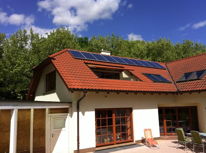 Wohnhaus Weißenfels Solaranlage