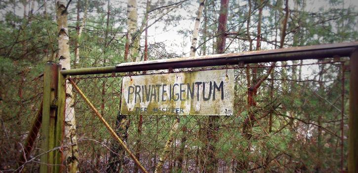 Grundstück als Privateigentum