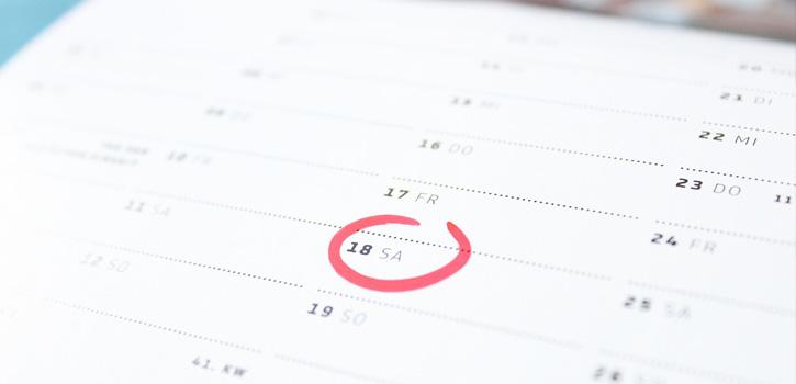 Termine im Kalender